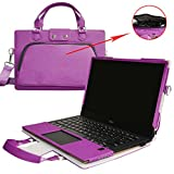 "XPS 13 Case,2 in 1 Accurately Designed Protective PU Leather Cover + Portable Carrying Bag for 13.3"" Dell XPS 13 9370 9360 9350 9343 Series Laptop(Not fit XPS 13 9365 9333 L321X L322X),Purple"