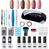 Gellen Gel Nail Polish Starter Kit - Selected 6 Colors, with Top Coat - Best Reviews Guide