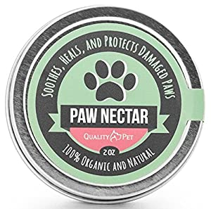 100% Organic and Natural Paw Wax Heals and Repairs Damaged Dog Paws from QualityPet, LLC