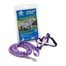 Come with Me Kitty Harness Bungee Leash MEDIUM / LILAC