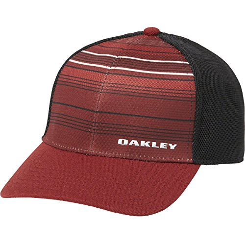 Oakley Men's Silicone Bark Trucker Print 2.0, Iron Red, - Hat Red Oakley