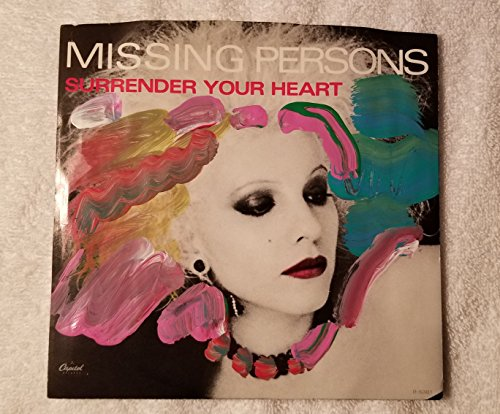 (MISSING PERSONS Surrender Your Heart / All Fall Down VINYL Single 45 PICTURE SLEEVE HAND PAINTED by PETER MAX signed)