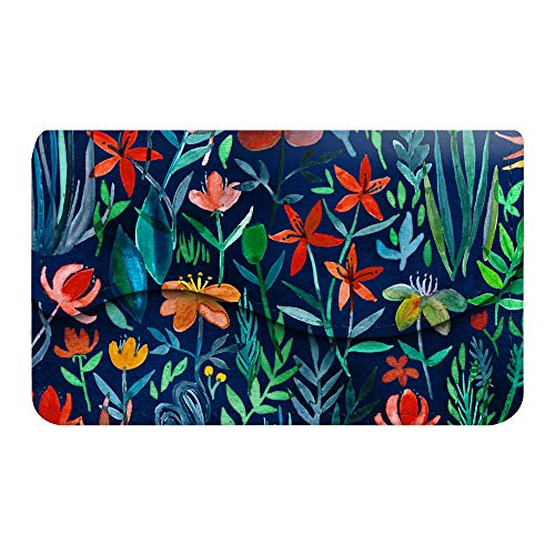 Business Card Holder/Credit Card Wallet, Fintie Premium PU Leather Handmade Universal Card Case Organizer with Magnetic Closure, Jungle Night