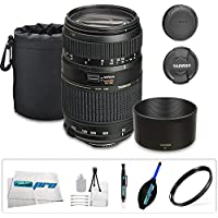 Tamron AF 70-300mm f/4.0-5.6 Di LD Macro Zoom Lens for Canon Digital SLR Cameras + I3E Pro Ultrasoft Lens Pouch + I3E Pro Basic Accessory Bundle - International Version