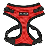 Authentic Puppia RiteFit Harness with Adjustable Neck, Red, Medium