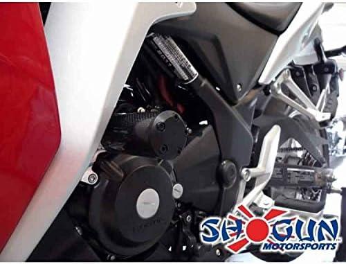 MADE IN THE USA 710-3119 2011-2013 Honda CBR250R No Cut Carbon Fiber Frame Sliders