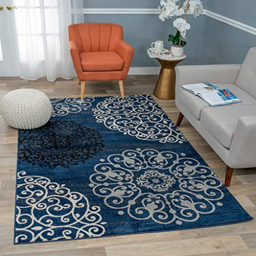 Rugshop Contemporary Modern Floral Area Rug, 5'3