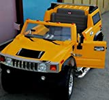New Licensed Limited Edition Hummer H2 Kids Ride on Power Wheels Battery Remote Control Toy Car - Yellow