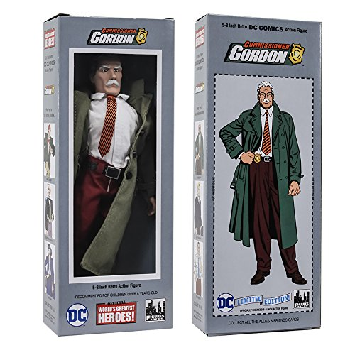 DC Comics Mego Style Boxed 8 Inch Action Figures: Commissioner Jim - Styles Jim