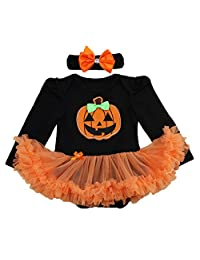 Newborn Infant Baby Girl Princess Party Romper Costume My 1st Halloween Tutu Dress