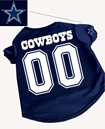 Amazon.com   Officially Licensed by the NFL - Dallas Cowboys Dog Football  Jersey - Small   Sports Fan Jerseys   Pet Supplies afb552918