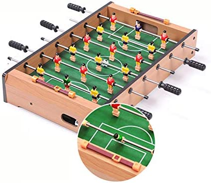 Tafelvoetbaltafel, Indoorvoetbal Houten Speeltafel Met 2 Ballen Eenvoudige Installatie Geschikt Voor Kinderen Volwassenen Familie-Entertainment