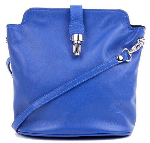 Primo Sacchi Italian Soft Leather Royal Blue Hand Made Small Cross Body or Shoulder Bag Handbag by Primo Sacchi