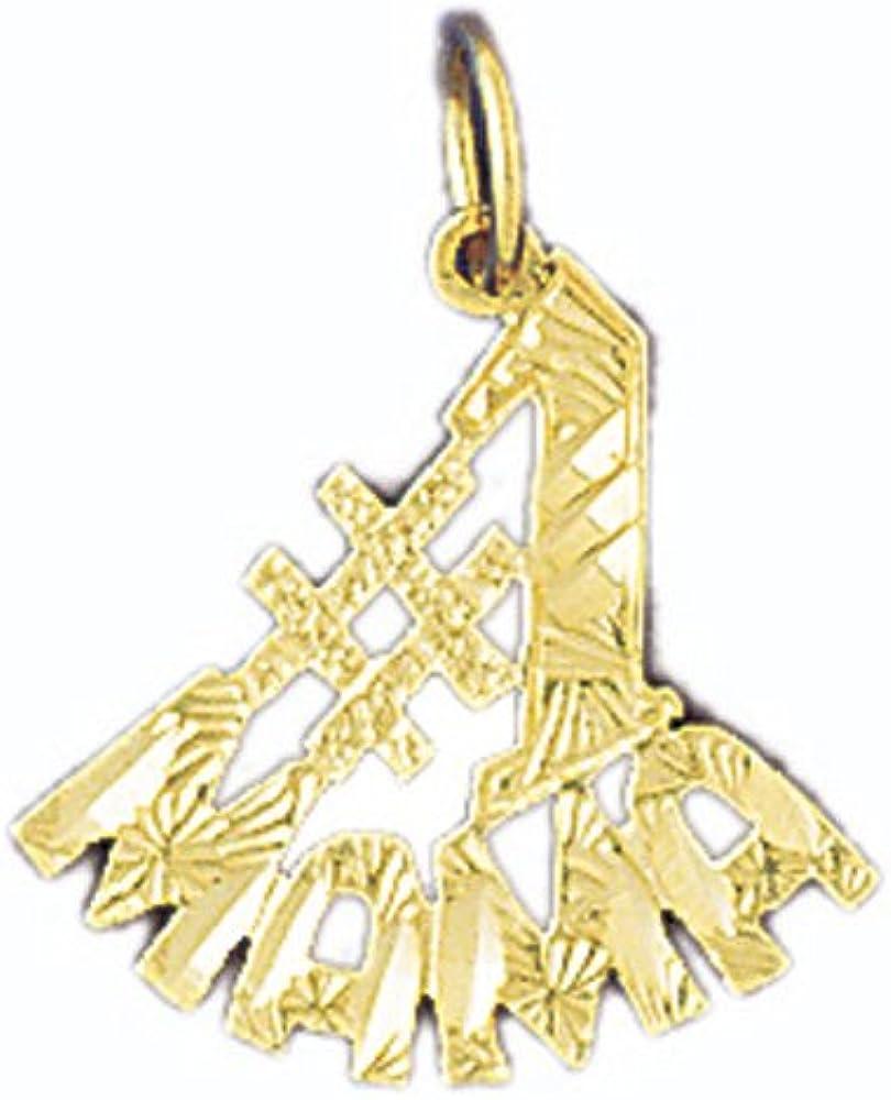 14k Yellow Gold #1 Madre Pendant
