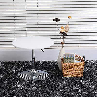 Bistro Chrome Bar Table Top Adjustable Round Counter Space Saver Pub Tables by Unknown