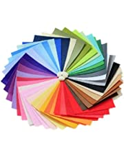 DIY Polyester Felt Nonwoven Fabric Sheet for Craft Work 50 Colors Super Soft Squares15*15cm / 5.9 * 5.9inch, About 1mm Thick