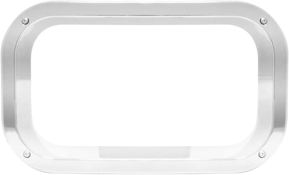 GG Grand General 97556 Chrome Plated Cab Door View Window Trim for Freightliner FLD//Classic