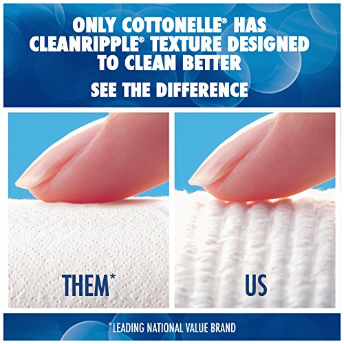 Large Product Image of Cottonelle CleanCare Family Roll Toilet Paper (Pack of 36 Rolls), Bath Tissue with Clean Ripple Texture, Sewer and Septic Safe. 250 sheets/roll
