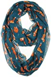 Vivian & Vincent Soft Light Weight Cartoon Fox Sheer Infinity Scarf (SteelBlue)