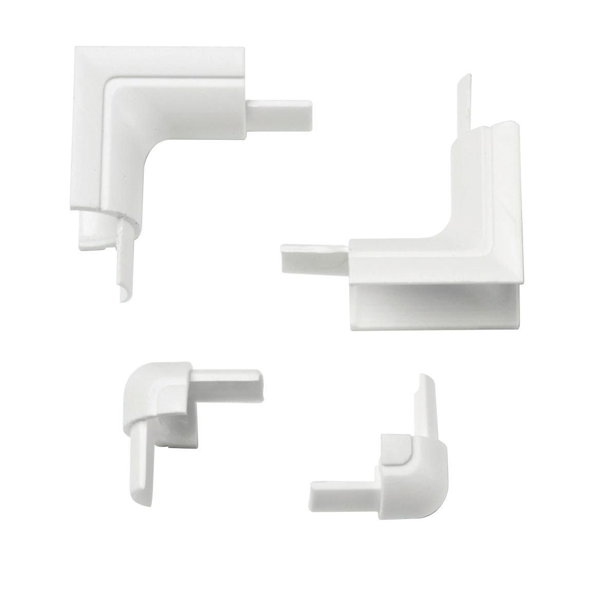 Smooth-Fit Internal & External Bend Pack 16 x 8mm White 4Pcs D-Line