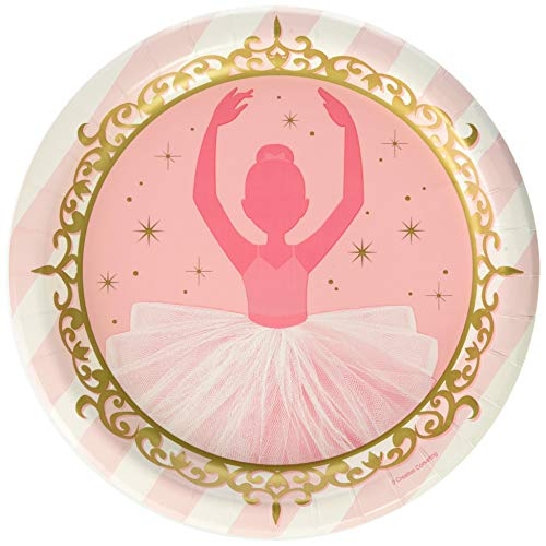 (Creative Converting 322224 Twinkle Toes Ballerina Dinner Plates Party Supplies, 9