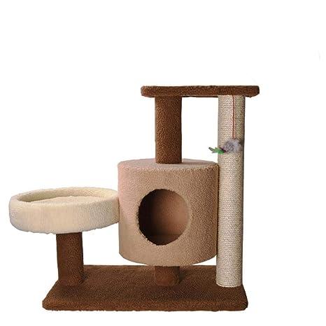 Daeou Árbol para Gatos rascador Medio árbol del Gato Gato Juguete Peluche Gato Nido Gato Plataforma