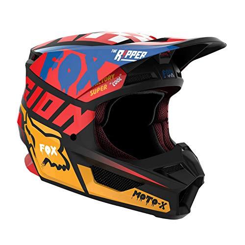 Casco Fox Racing V1 Mx19 Cazar Amarillo Off Road Moto Cross Talla L