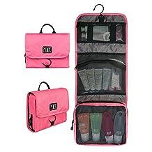 BAGSMART Travel Hanging Cosmetic Organizer Toiletry Bags Makeup Case
