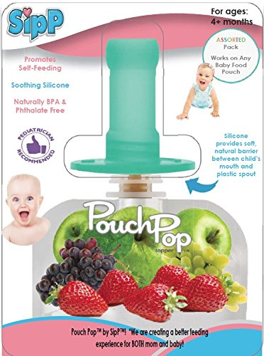 PouchPop Topper 4 Count for Pouch Feeding, 4 Months ()