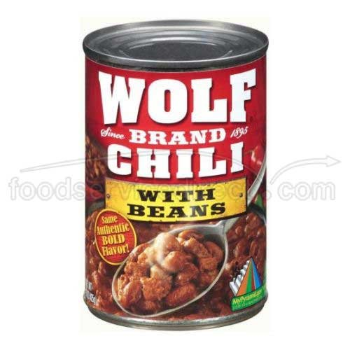 Wolf Brand Chili with Beans, 24 Ounce (Pack of 12)