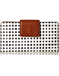Emma Rfid Tab Clutch White With Black Wallet