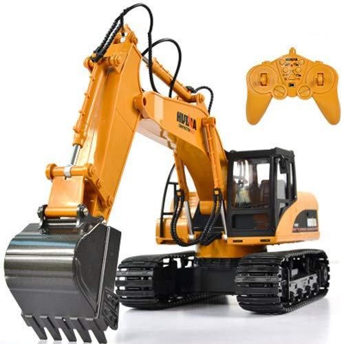 Pinjeer リモートコントロールショベル充電合金工学自動車ワイヤレス子供のおもちゃの男の子の贈り物に耐える大きな子供のための掘削機8 + B07R22G572