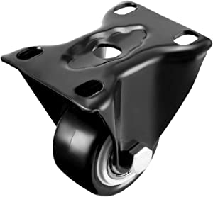 uxcell Fixed Casters 1.5 Inch PU Top Plate Mounted Rigid Caster Wheels, 330lb Total Load Capacity, Pack of 4