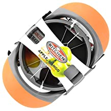 Kitchen Maestro Mango and Apple Slicer and Corer. Slice and Pit your Fruits in One Easy Movement. by Kitchen Maestro