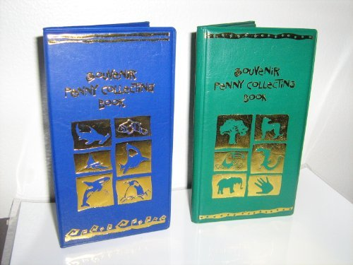 Rhode Island Novelty One Green/One Blue Elongated Souvenir Penny Book W/ 2 Free Pressed Pennies!