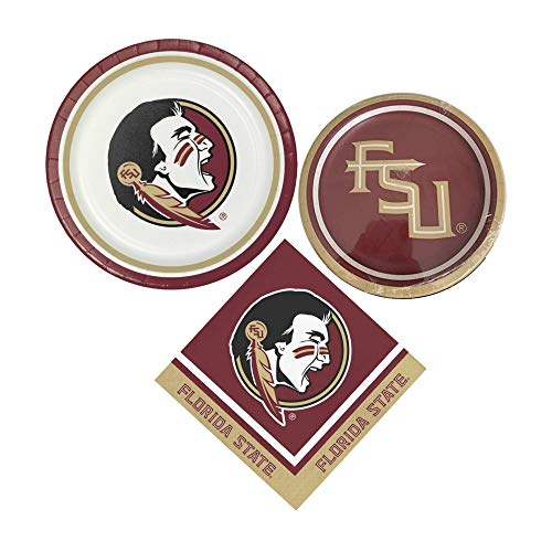 Florida State University Seminoles Party Supplies Themed Paper Plates & Napkins Serves 8 Guests -