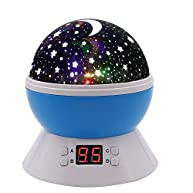 SCOPOW Constellation Night Light Star Sky with LED Timer Auto-Shut Off, 360 Degree Rotation Colorful Moon Night Lamp Gift for Baby Kid Children Bedroom Nursery Decor