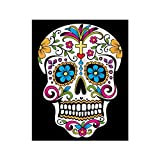 Qenci Flannel Halloween Skull Skeleton Print Throw Blanket Warmth Soft Plush Blankets Throws