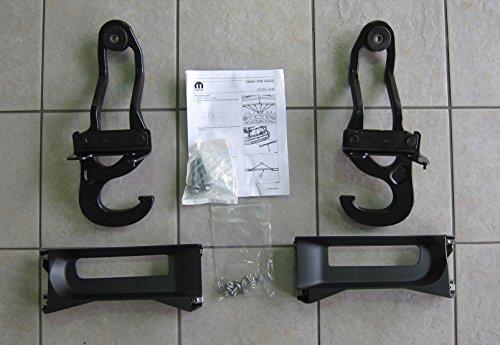 Mopar Dodge Ram 1500 Front Tow Hooks & Steel Bumper Bezels OEM