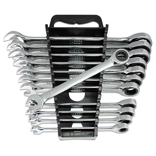 12pc MM/Metric TIGHTSPOT Ratcheting Wrenches - With Quick Access Wrench Organizer - Our standard in combination wrench sets from gear to - Set Wrench Metric Ratcheting