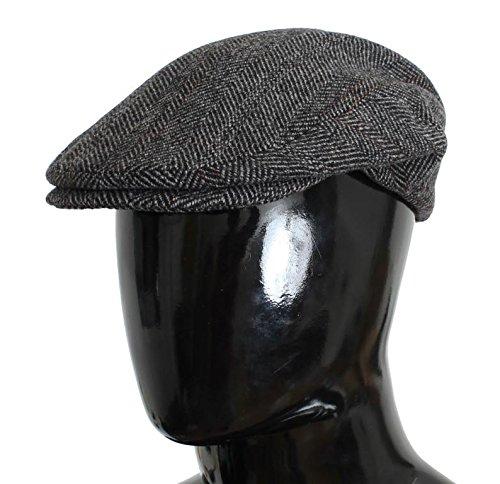 Dolce & Gabbana Gray Tweed Wool Newsboy Cap