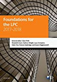 Foundations for the LPC 2017-2018 (Legal Practice Course Manuals)