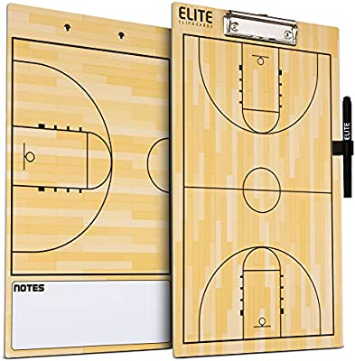 Elite Clipboards Double Sided Dry Erase Coaches Marker Board