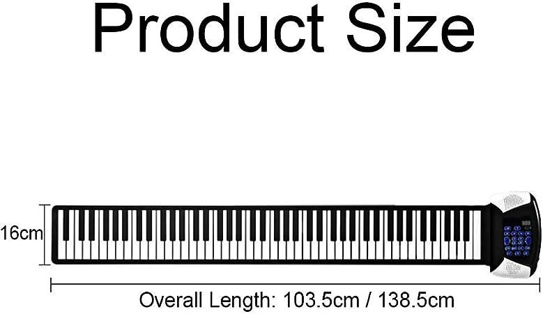 XMZWD Piano Roll Up Flexible, Portátil Eléctrico 88 Teclas Hand ...