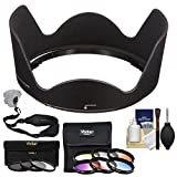 Nikon HB-39 Bayonet Lens Hood for 16-85mm f/3.5-5.6G & 18-300mm f/3.5-6.3G VR with 3 UV/CPL/ND8 & 6 Colored Filters + Sling Strap + Cleaning Kit