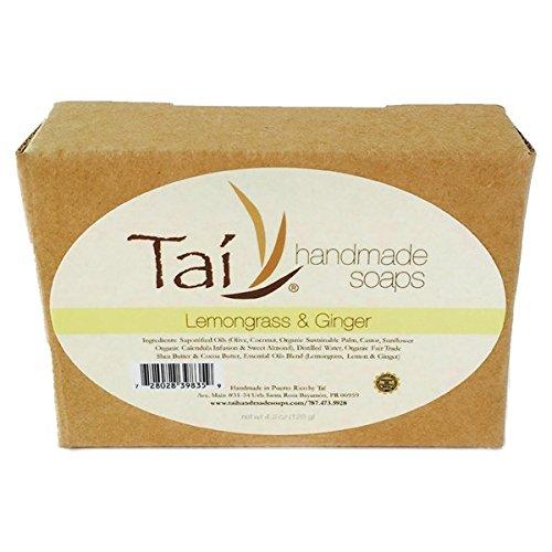 Organic Natural Handmade Soaps - Lemongrass & Ginger - 4.5 oz Bar