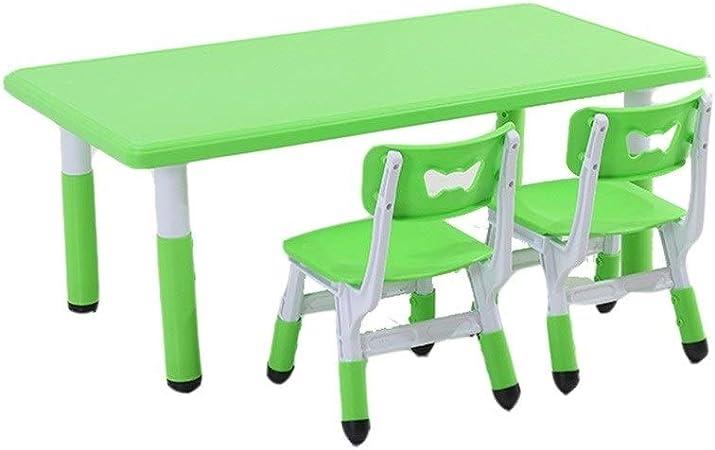 CHAXIA Silla De Mesa Infantil Jardín De Infancia Multifuncional Aprendizaje Comer Levantar Mesas, 4 Colores, 5 Combinaciones (Color : Green, Size : C): Amazon.es: Hogar