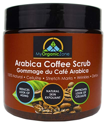 Arabica-Coffee-Scrub, 100% Natural-Body-Scrub for Cellulite-Treatment, Exfoliating-Cream (8.8oz/250g)