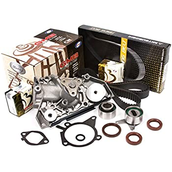 Evergreen TBK179MWP 91-96 Ford Escort Mazda Mercury 1.6L 1.8L DOHC 16V B6 BP Timing Belt Kit GMB Water Pump