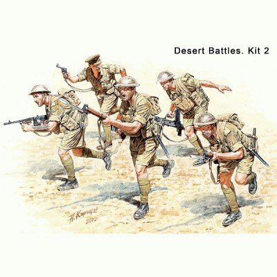 Master Box WWII British Infantry N. Africa (5) Figure Model Building Kits (1:35 Scale) (1 35 Masterbox)